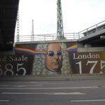 Händelgraffiti am Hauptbahnhof